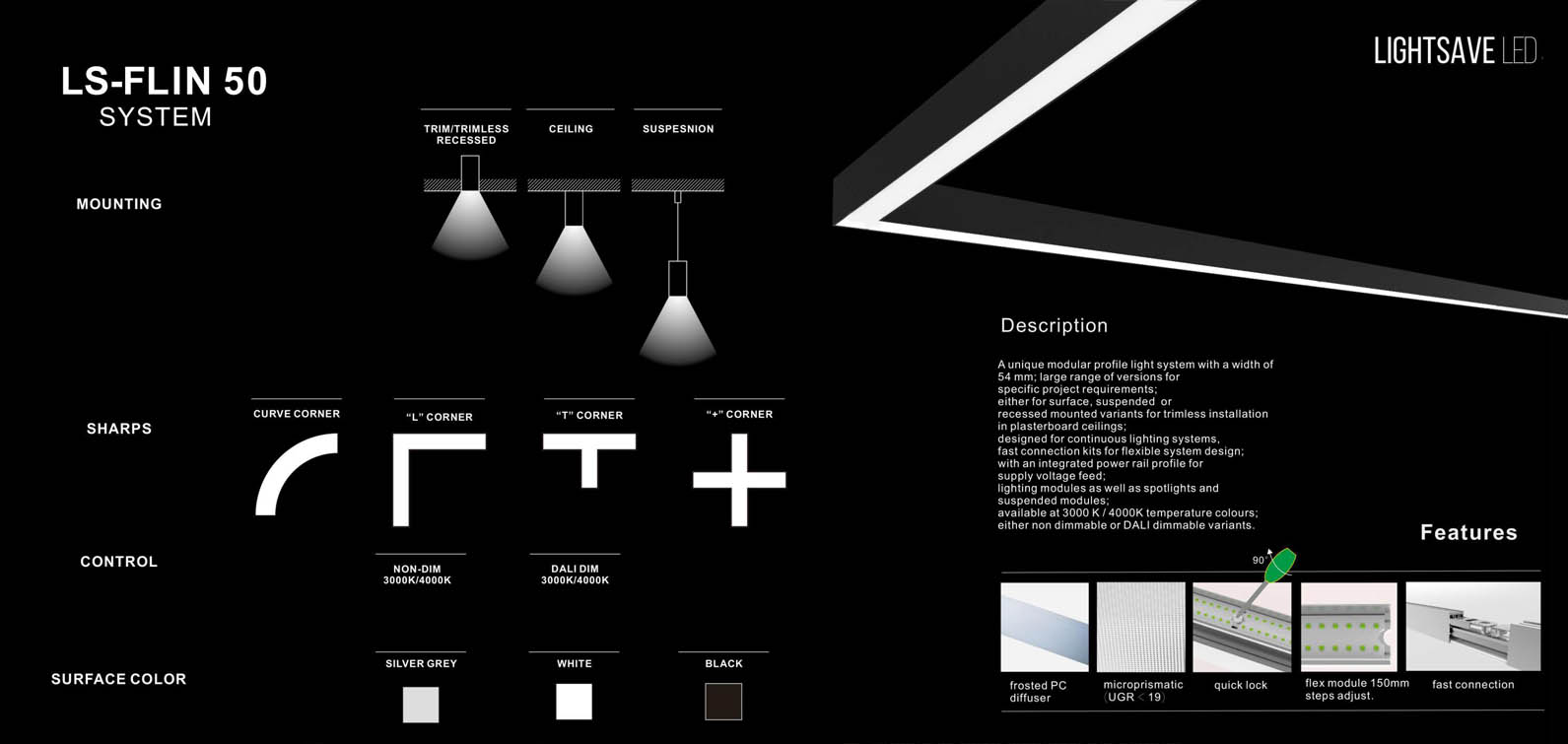 LS Flin 50 modular LED lighting system